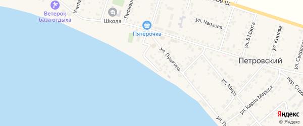 Береговая улица на карте Петровского поселка с номерами домов