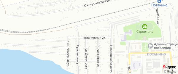 Потанинская улица на карте Копейска с номерами домов