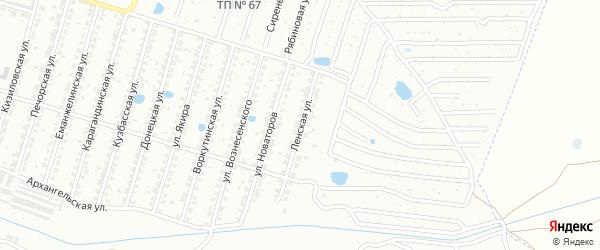 Ленская улица на карте Копейска с номерами домов