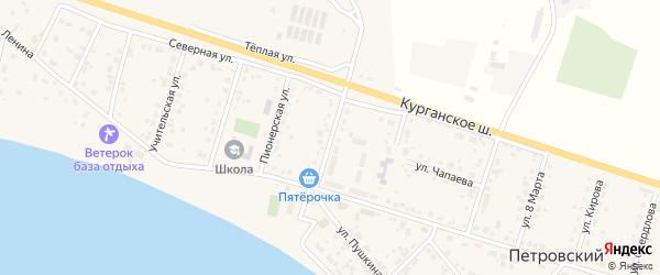 Улица 40 лет Победы на карте Петровского поселка с номерами домов