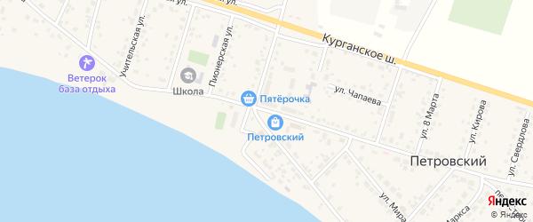 Улица Ленина на карте Петровского поселка с номерами домов