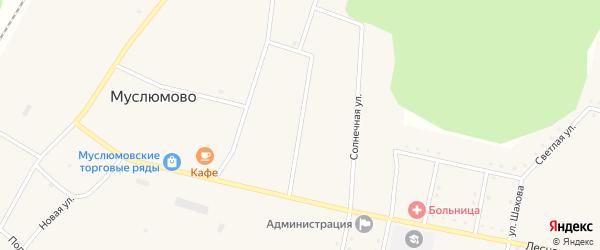 Восточная улица на карте железнодорожной станции Муслюмово с номерами домов