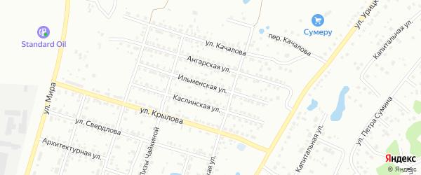 Ильменская улица на карте Копейска с номерами домов