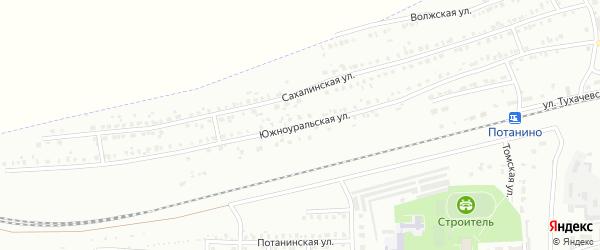 Южноуральская улица на карте Копейска с номерами домов