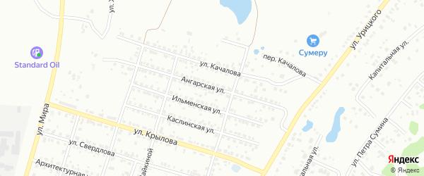 Ангарская улица на карте Копейска с номерами домов