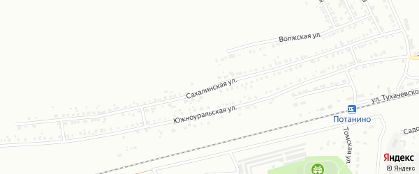 Сахалинская улица на карте Копейска с номерами домов