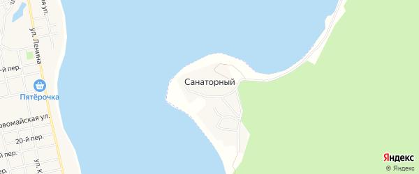Карта Санаторного поселка в Челябинской области с улицами и номерами домов