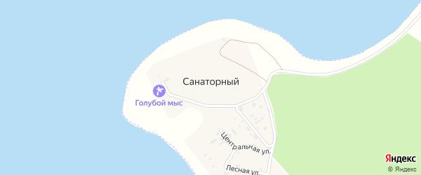 Лесная улица на карте Санаторного поселка с номерами домов