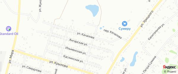 Улица Качалова на карте Челябинска с номерами домов