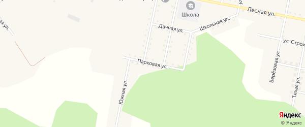 Парковая улица на карте железнодорожной станции Муслюмово с номерами домов