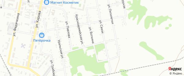 Улица Боткина на карте Копейска с номерами домов