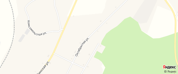Октябрьская улица на карте железнодорожной станции Муслюмово с номерами домов