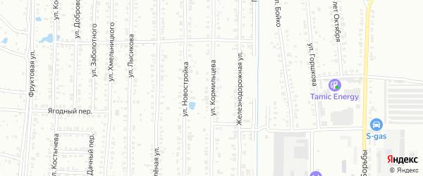Улица Кормильцева на карте Копейска с номерами домов
