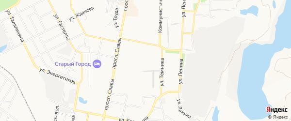 ГСК N5 на карте Копейска с номерами домов