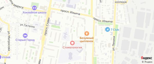 3-й участок на карте гаражно-строительного кооператива N5 с номерами домов