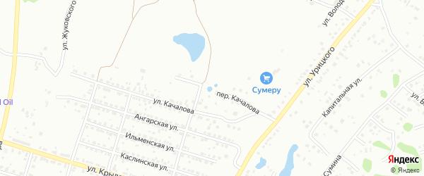 Переулок Качалова на карте Копейска с номерами домов