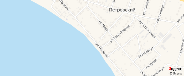 Улица Пушкина на карте Петровского поселка с номерами домов