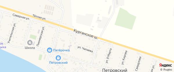 Северная улица на карте Петровского поселка с номерами домов