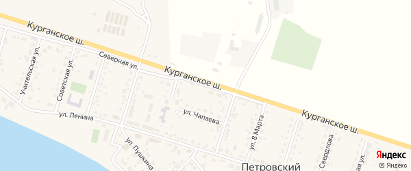 Северная улица на карте садового товарищества Лесная поляна с номерами домов
