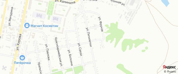 Улица Пятилетки на карте Копейска с номерами домов