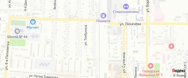 Железнодорожная улица на карте Копейска с номерами домов