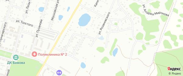 Улица Розановского на карте Копейска с номерами домов