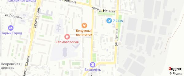 Улица Темника на карте Копейска с номерами домов