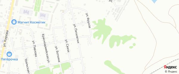 Улица Фрунзе на карте Копейска с номерами домов