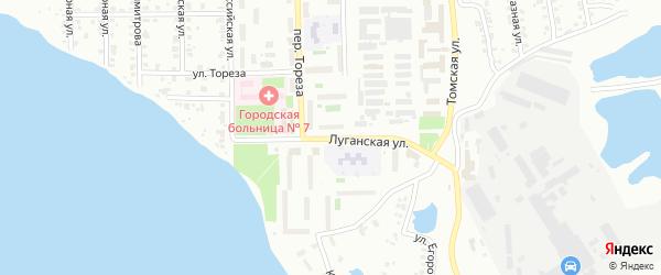 Луганская улица на карте Копейска с номерами домов