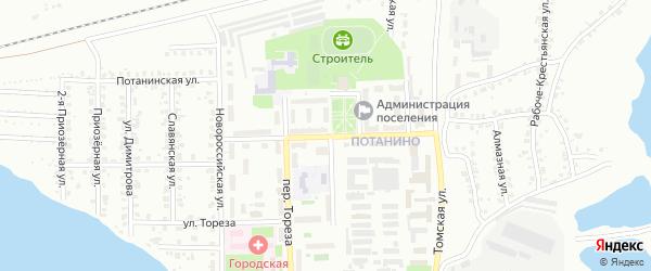 Театральная улица на карте Копейска с номерами домов