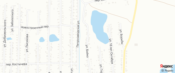 Улица Бойко на карте Копейска с номерами домов