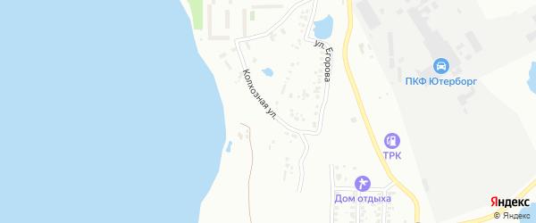 Колхозная улица на карте Копейска с номерами домов