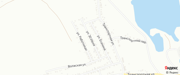 Улица 30 июля на карте Копейска с номерами домов