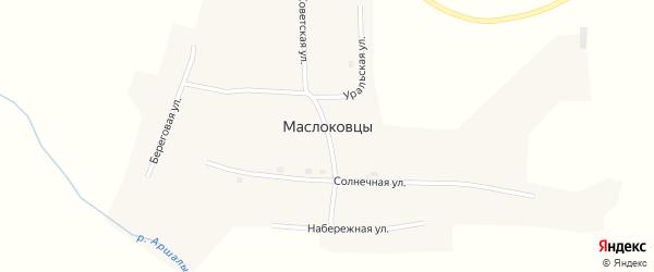 Набережная улица на карте поселка Маслоковцы с номерами домов