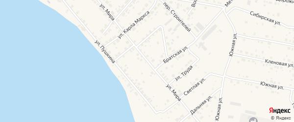 Улица Мира на карте Берегового поселка с номерами домов