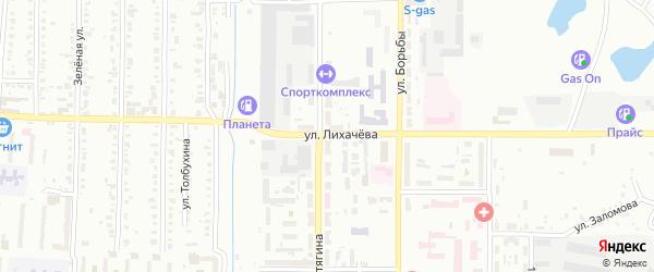 Улица Лихачева на карте Копейска с номерами домов