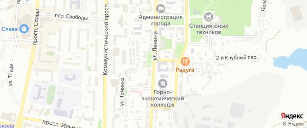 Улица Ленина на карте Копейска с номерами домов