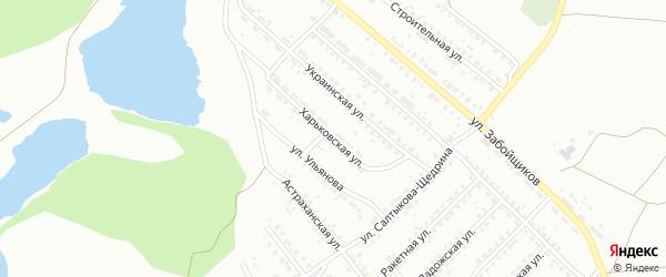 Харьковская улица на карте Копейска с номерами домов