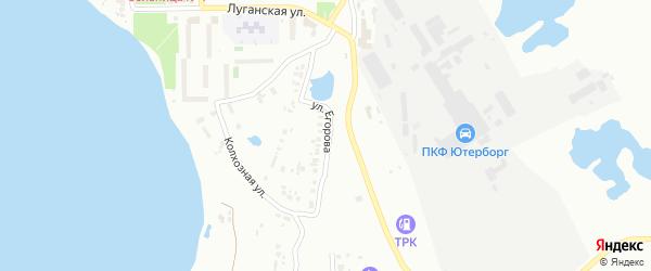 Улица Егорова на карте Копейска с номерами домов