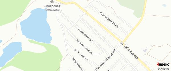 Украинская улица на карте Копейска с номерами домов