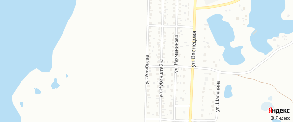 Улица Алябьева на карте Копейска с номерами домов