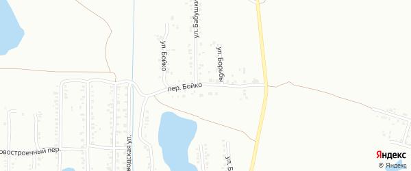 Переулок Бойко на карте Копейска с номерами домов