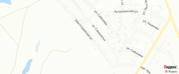 Шахтстройская улица на карте Копейска с номерами домов