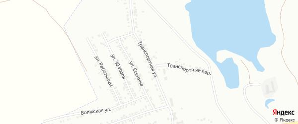 Транспортная улица на карте Копейска с номерами домов