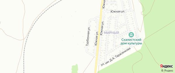 Турбинная улица на карте Троицка с номерами домов