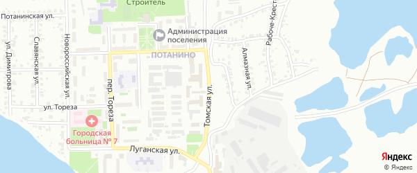 Томская улица на карте Копейска с номерами домов