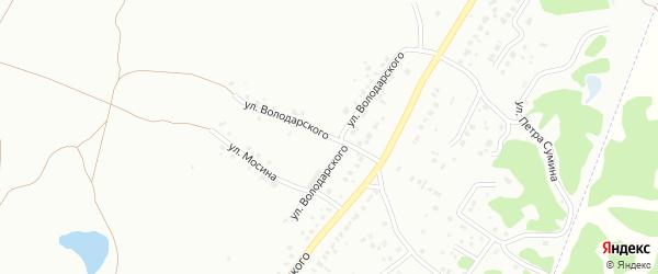 Улица Володарского на карте Копейска с номерами домов
