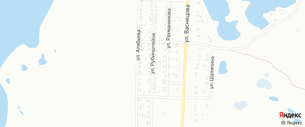 Улица Рубинштейна на карте Копейска с номерами домов