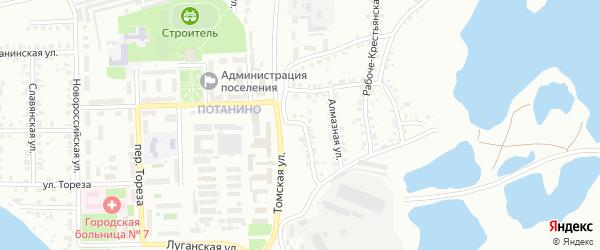 Гранитная улица на карте Копейска с номерами домов