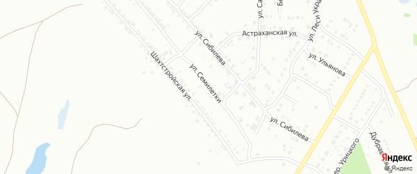 Улица Семилетки на карте Копейска с номерами домов